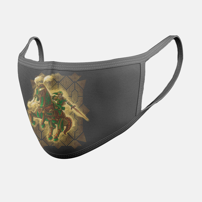 Hylian Punk-unisex basic face mask-Punksthetic