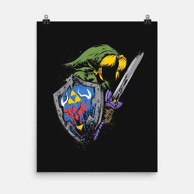 Hyrule Warrior-none matte poster-DrMonekers