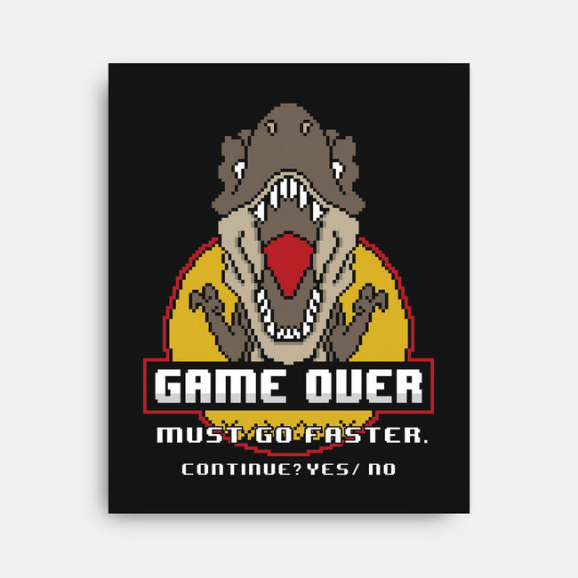 Game Over Dino-none stretched canvas-jrberger