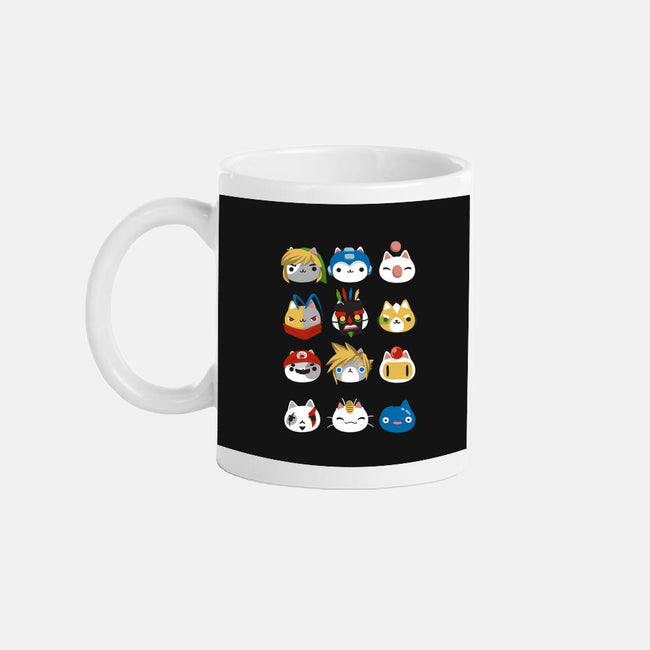 Gamer Cats-none glossy mug-BlancaVidal