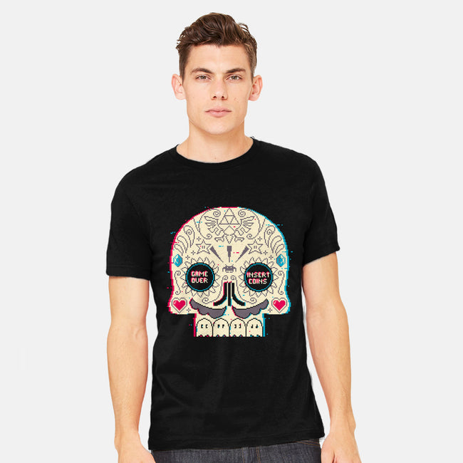 Gamer Skull-mens heavyweight tee-spike00