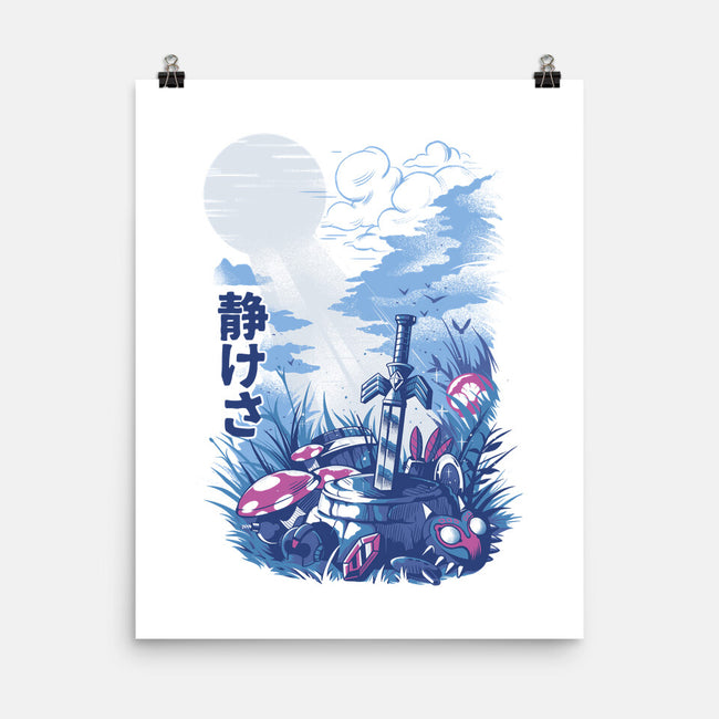 Games in the Woods-none matte poster-ilustrata