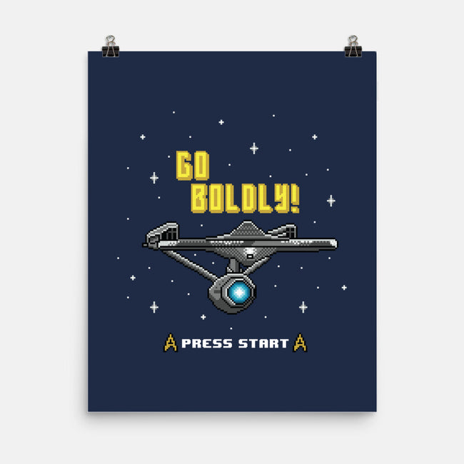 Go Boldly-none matte poster-Pixel Pop Tees