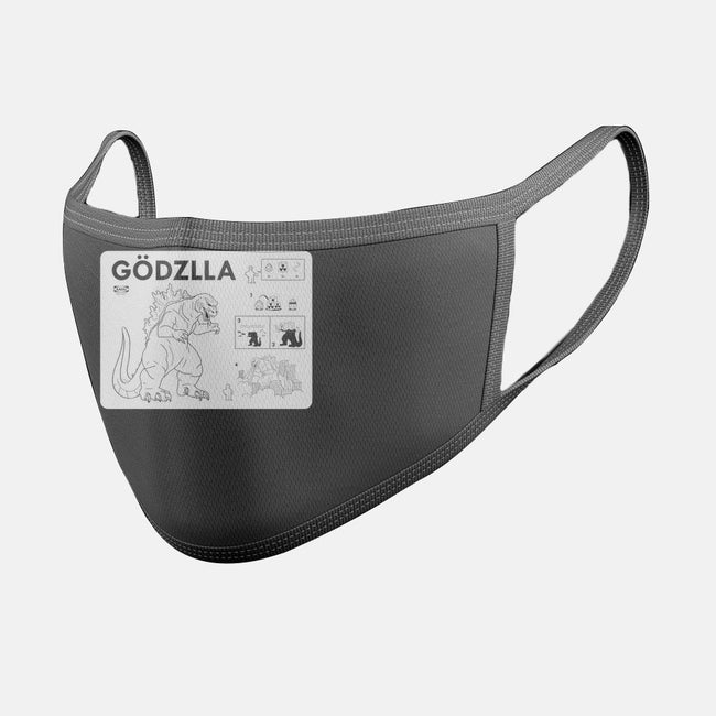 Gojira Assembly Required-unisex basic face mask-Cris7.7