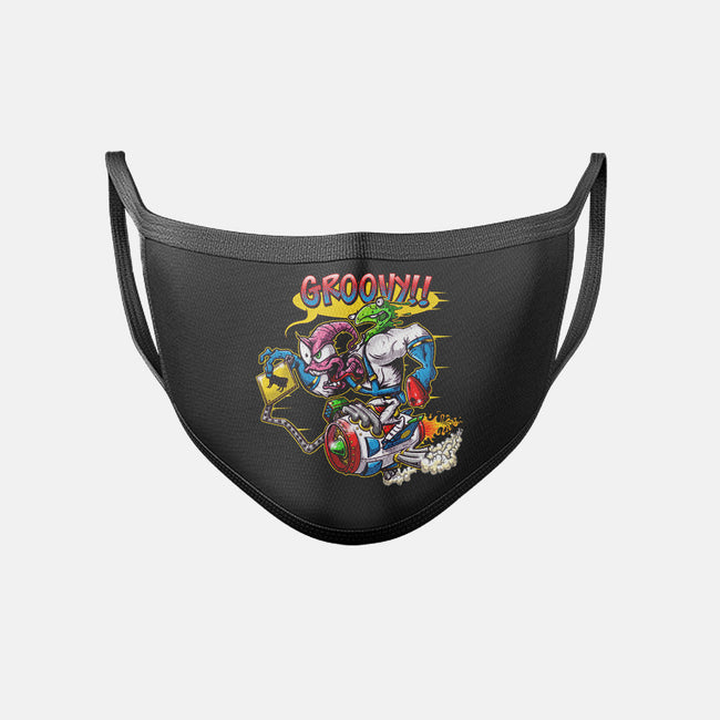 Groovy Fink-unisex basic face mask-JakGibberish