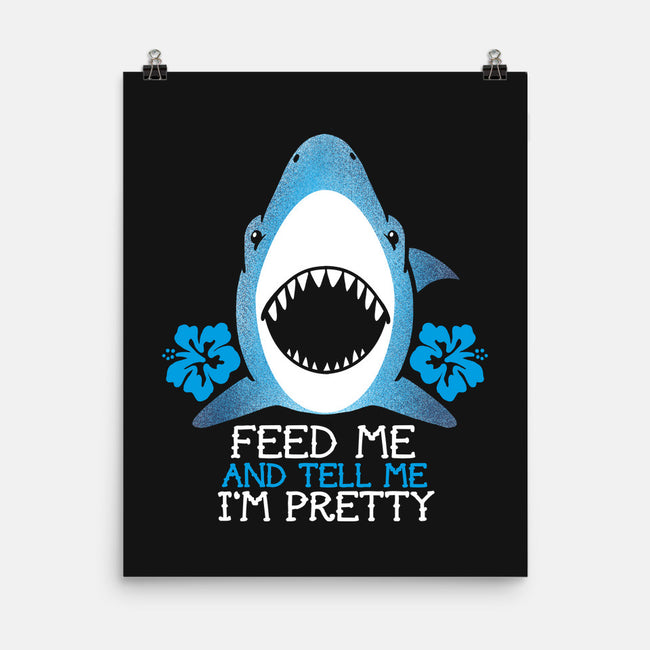 Feed The Shark-none matte poster-NemiMakeit