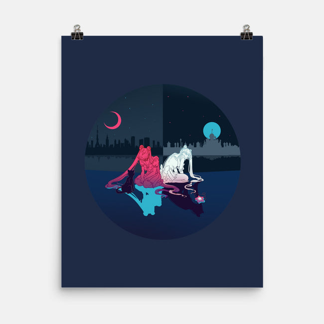Fighting Evil By Moonlight-none matte poster-kiwifruitbird
