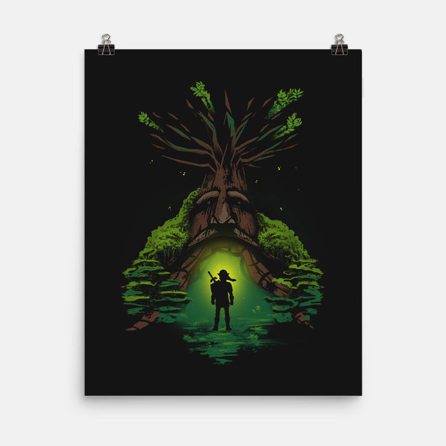 Forest Guardian-none matte poster-AlynSpiller