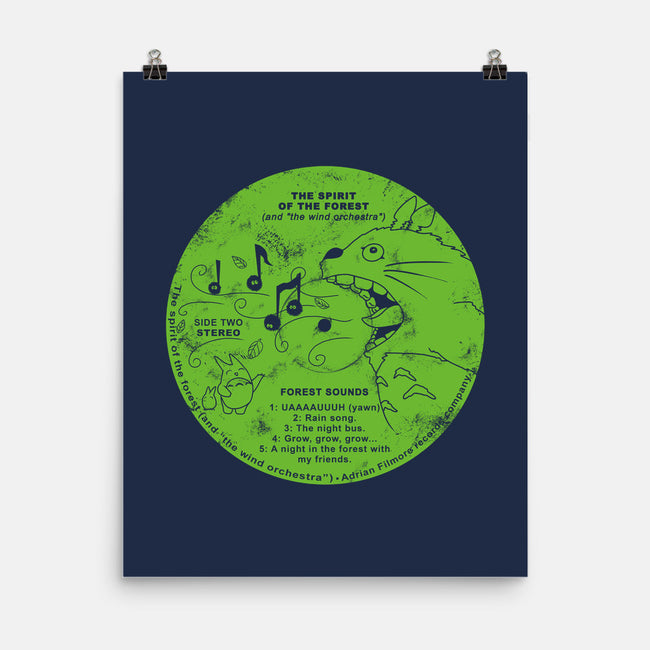 Forest Sounds LP-none matte poster-Adrian Filmore