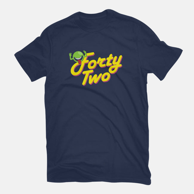 Forty-Two-mens heavyweight tee-maped