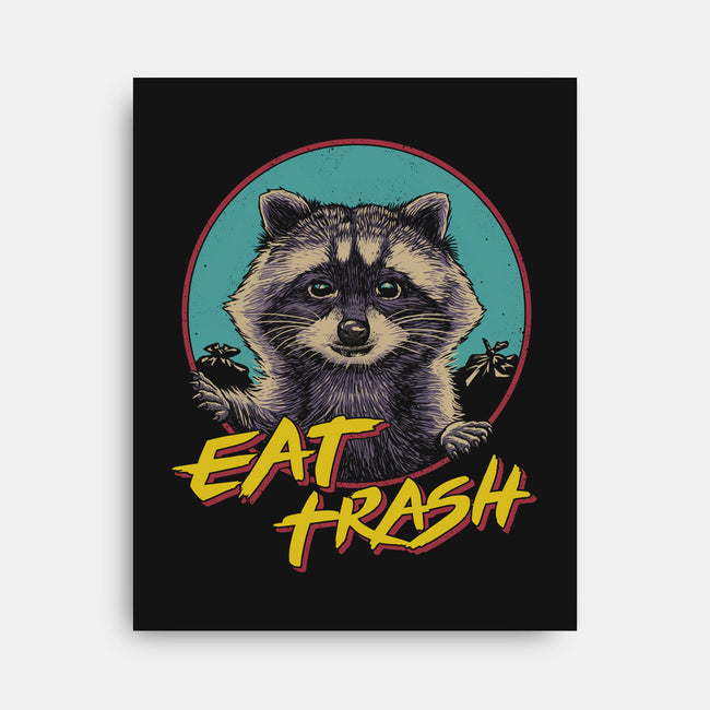 Eat Trash-none stretched canvas-vp021