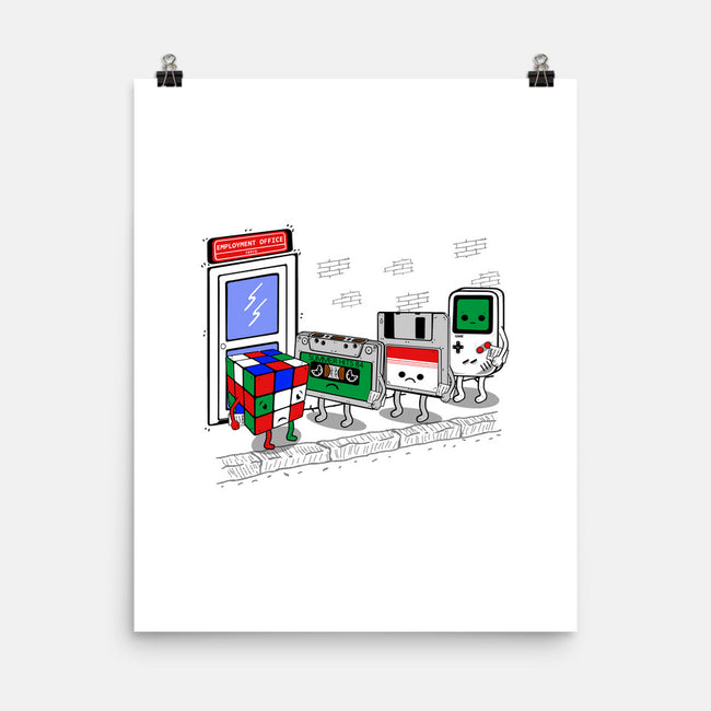 Employment Office v2-none matte poster-Melonseta