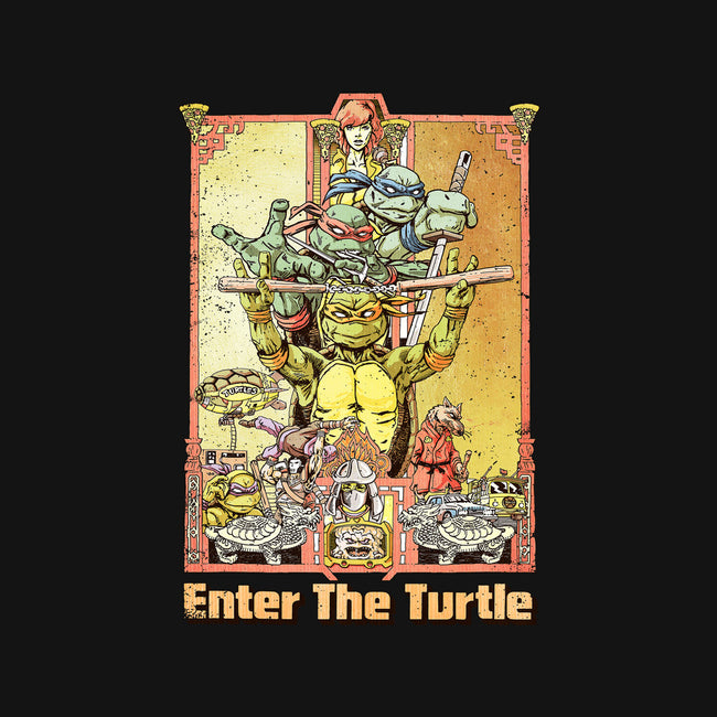 Enter the Turtle-none glossy sticker-FunTimesTees