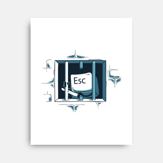 Escape-none stretched canvas-flyingmouse365