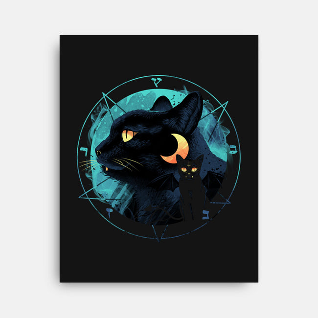 Evil Cat-none stretched canvas-vp021