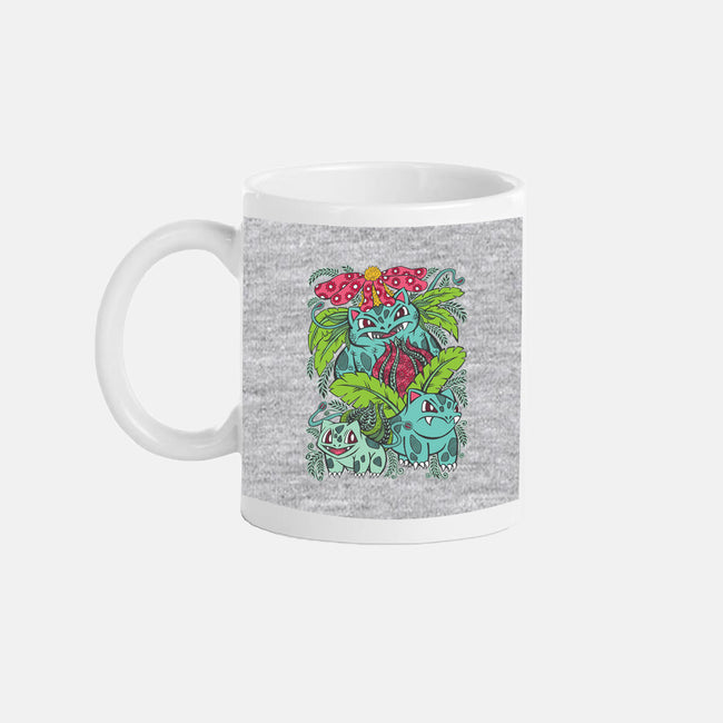 Evolution of a Grass Type-none glossy mug-OfficeInk