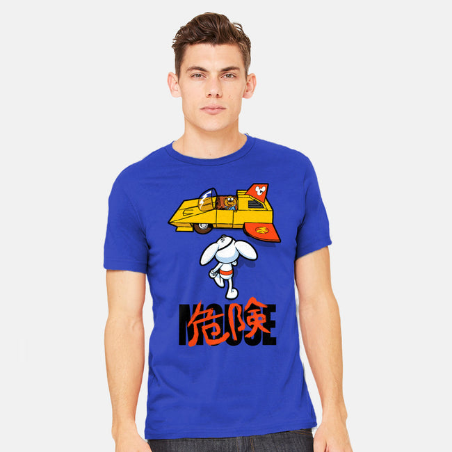 Danger Kira Mouse-mens heavyweight tee-bleee
