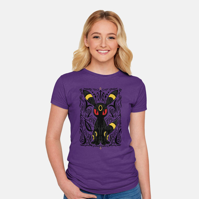 Dark Moonlight-womens fitted tee-YiannisTees