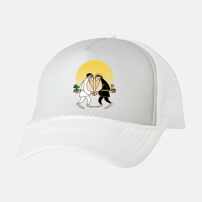 Dojo vs Dojo-unisex trucker hat-ntesign