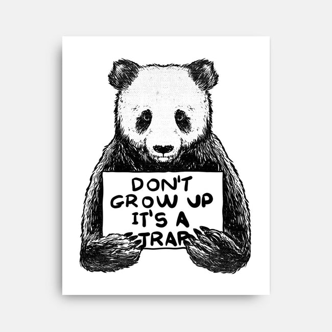 Don't Grow Up-none stretched canvas-tobefonseca