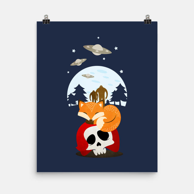 Dreaming of UFOs and Cryptids-none matte poster-JoeConde