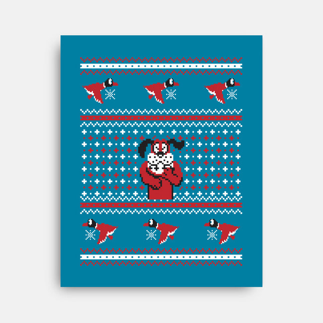 Duck For Christmas-none stretched canvas-Retro Review