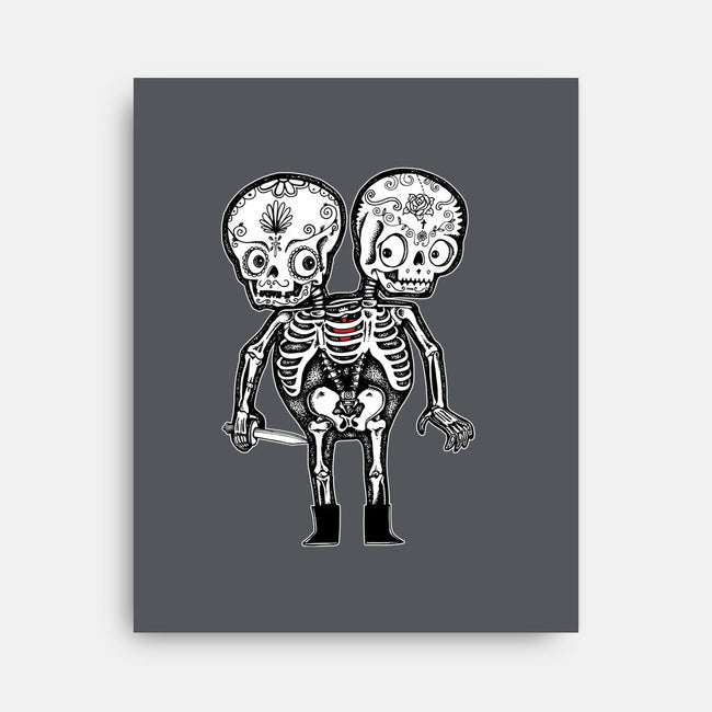 Calavera Twins-none stretched canvas-wotto
