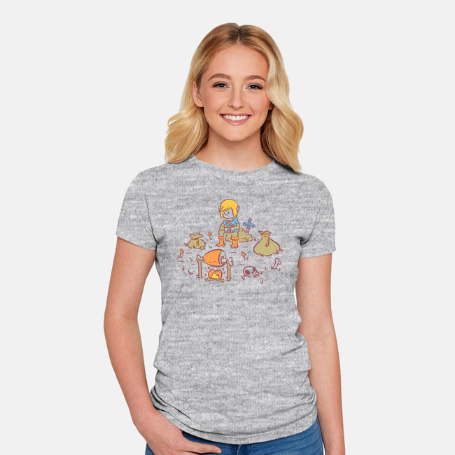 Camp Hero-womens fitted tee-Jaime Ugarte