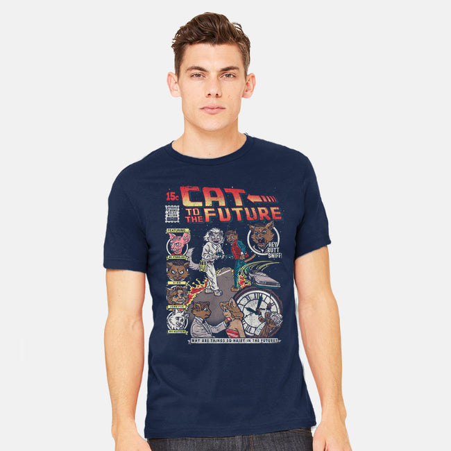 Cat to the Future-mens heavyweight tee-CoD Designs