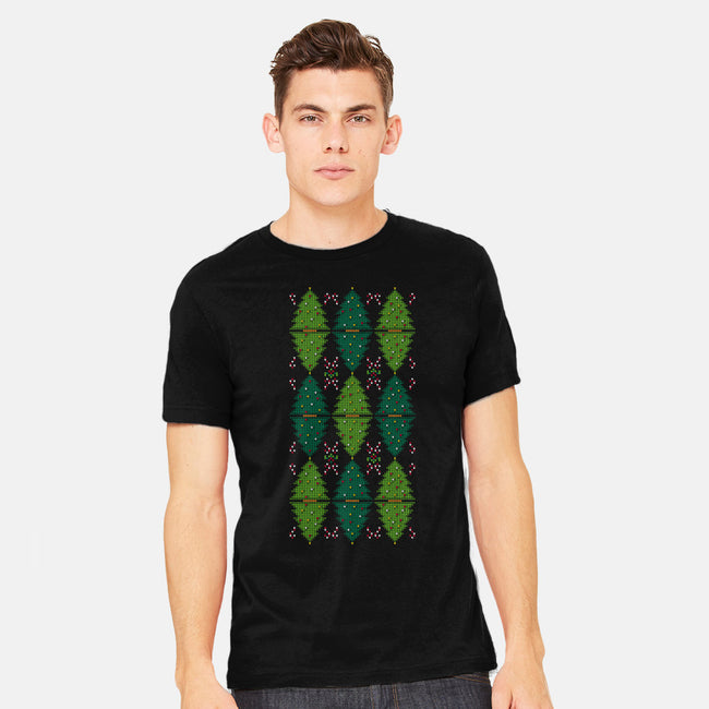 Christmas Argyle-mens heavyweight tee-MJ