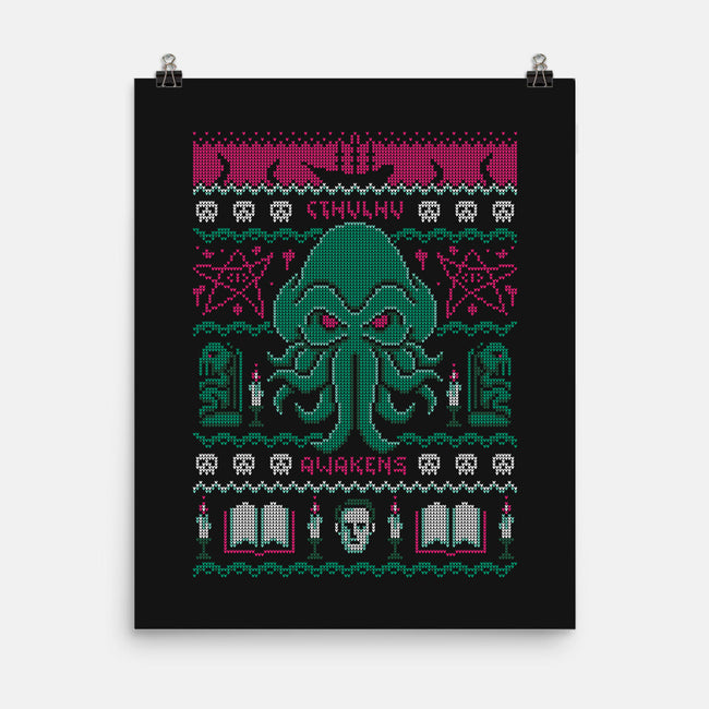 Christmas Awakens-none matte poster-BWdesigns