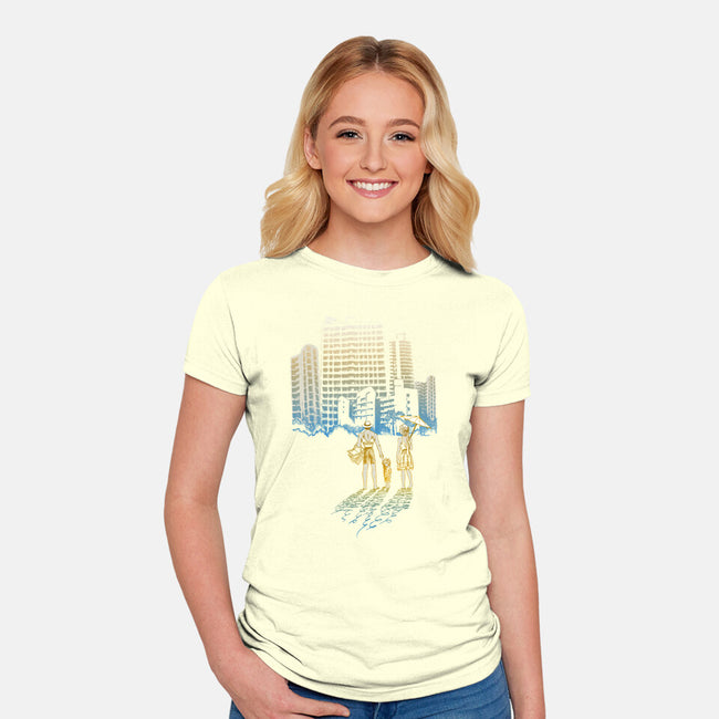 Coastal Vanish-womens fitted tee-jewelwing