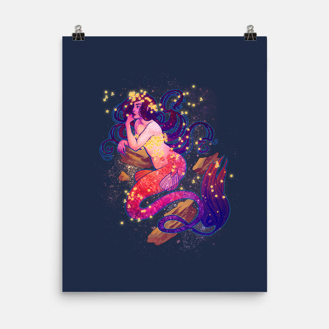 Cosmic Mermaid-none matte poster-dailenogden