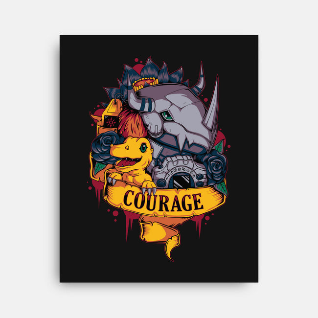 Courage Power-none stretched canvas-Typhoonic