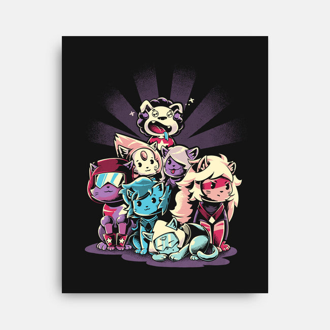 Cute Gems-none stretched canvas-yumie