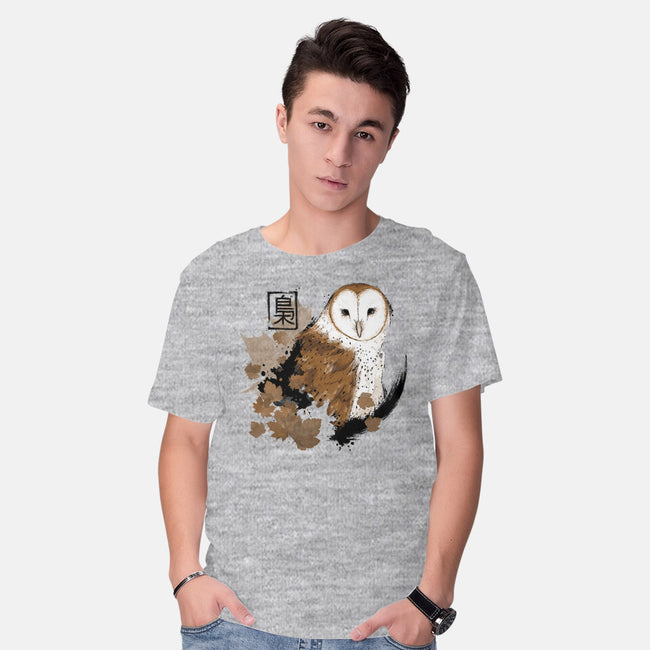 Barn Owl-mens basic tee-xMorfina