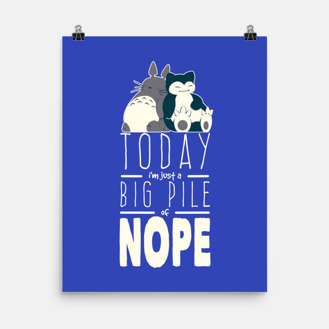 Big Pile Of Nope-none matte poster-ChocolateRaisinFury