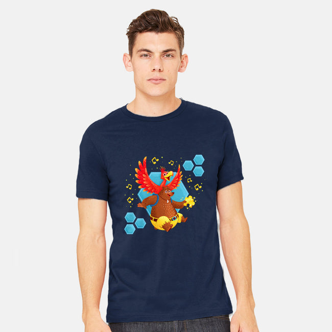 Bird and Bear 64-mens heavyweight tee-Miranda Dressler