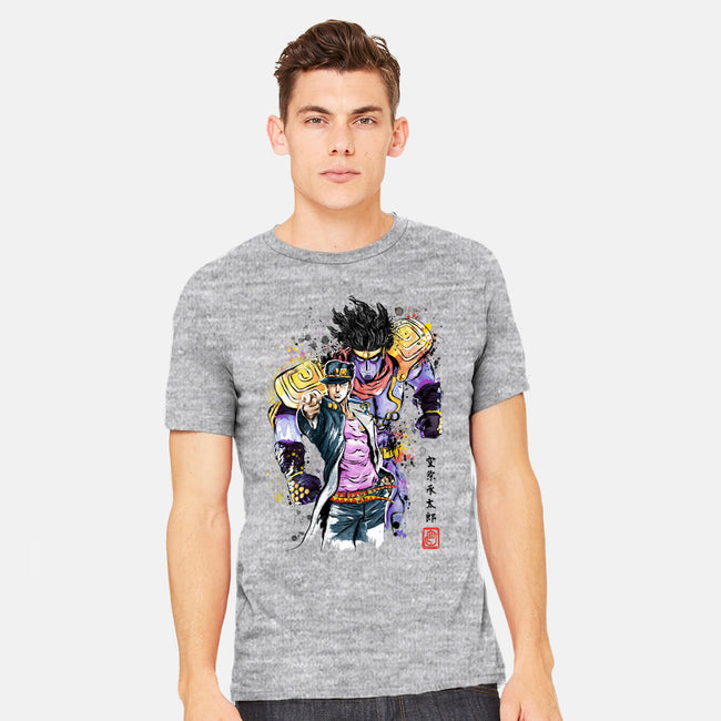 Bizarre Adventure Watercolor-mens heavyweight tee-DrMonekers