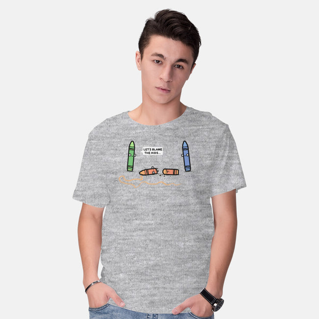 Blame the Kids-mens basic tee-Randyotter