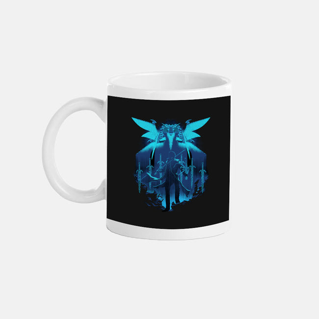 Blue King-none glossy mug-max58