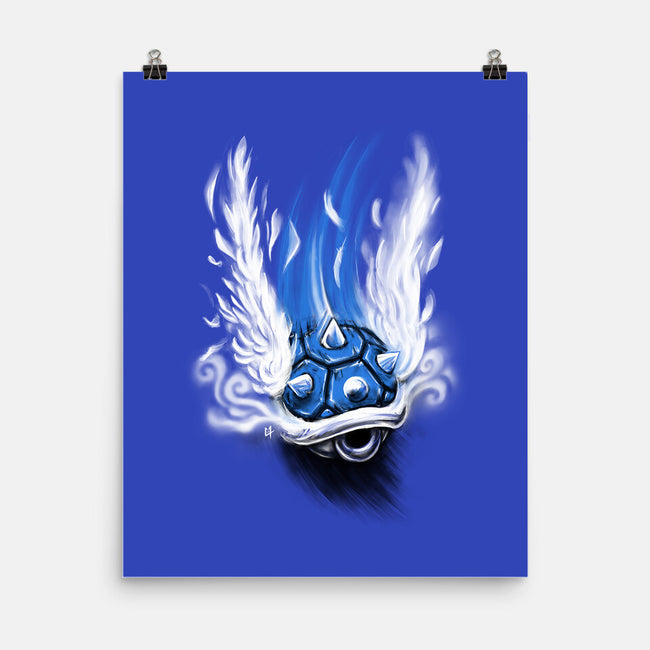 Blue Shell Attack-none matte poster-C0y0te7