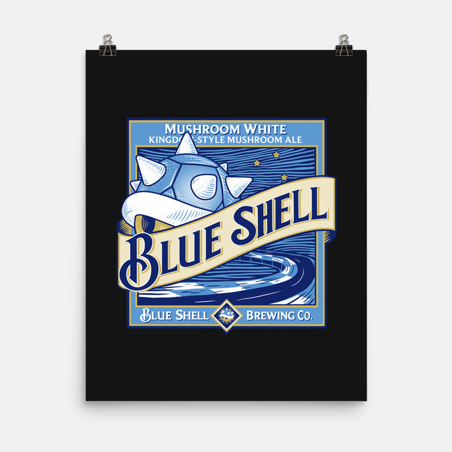 Blue Shell Beer-none matte poster-KindaCreative