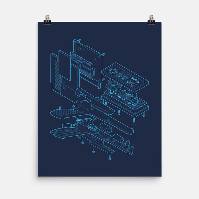 Blueprint Classic-none matte poster-mannypdesign