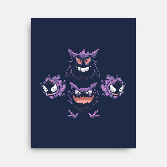 Bohemian Gastly-none stretched canvas-Pixel Pop Tees