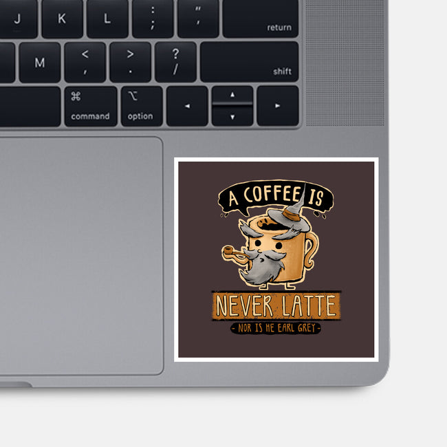 A Coffee is Never Latte-none glossy sticker-Hootbrush