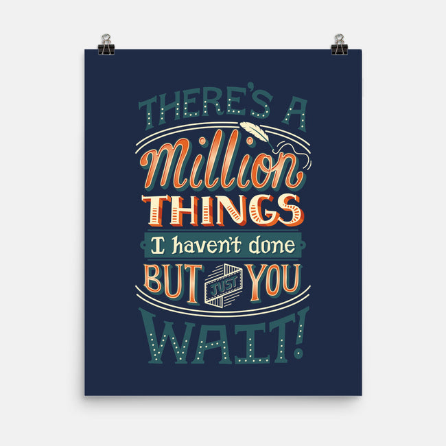 A Million Things-none matte poster-risarodil