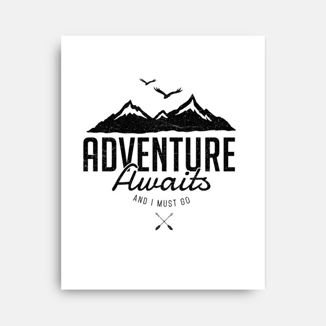 Adventure Awaits-none stretched canvas-magdadesign