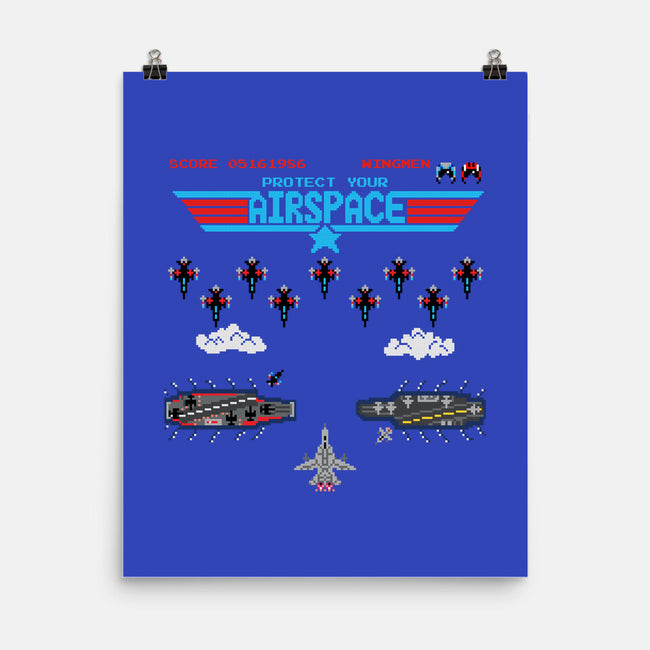 Airspace Invaders-none matte poster-Pixel Pop Tees
