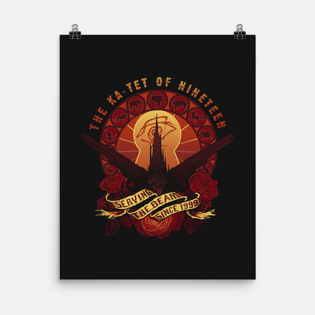All Things Serve the Beam-none matte poster-MeganLara